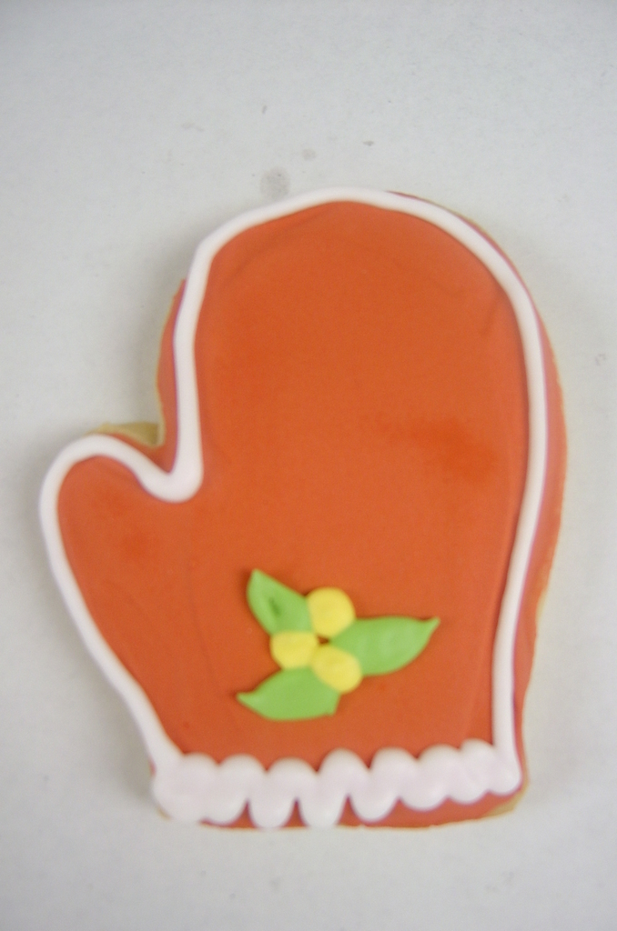 Holiday Mitten Royal Iced Cookies