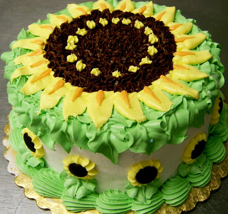 Adult Sunflower Top Cake