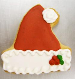 Holiday Santa Hat Royal Iced Cookies