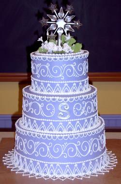 Running Scroll Wedding Cake