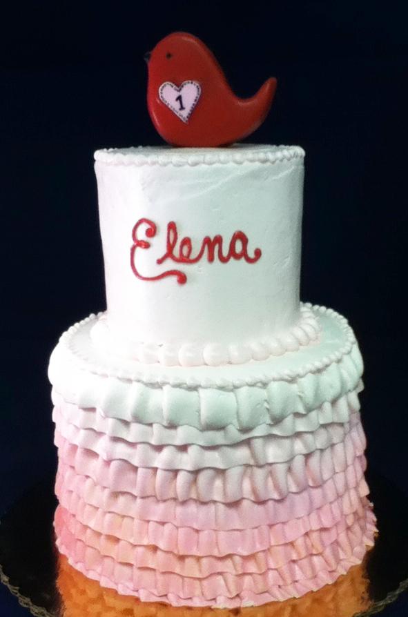 Girl Ruffle Theme Cake