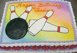 Sports Bowling Cake