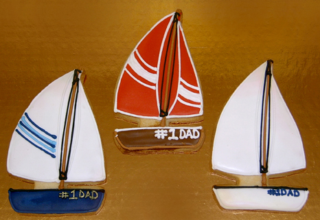 Sailboat Royal Iced Cookies