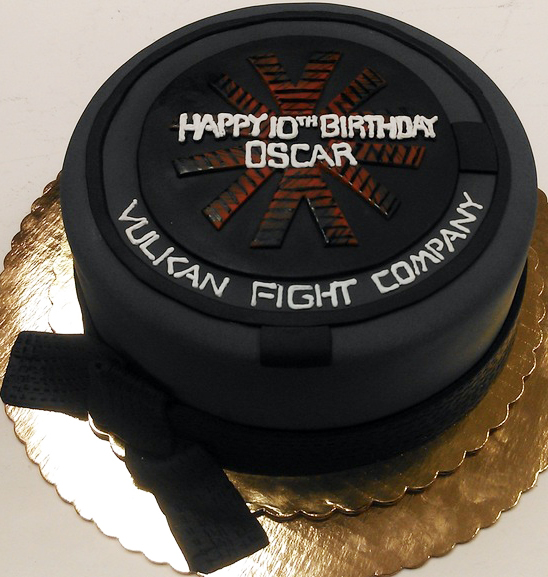 Sports Hockey Puck Cake