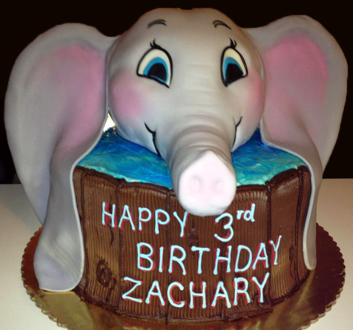 Boy Sculpted Elephant Cake