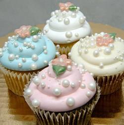 pastel bubble cupcake