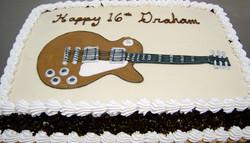 Boy Guitar Cake
