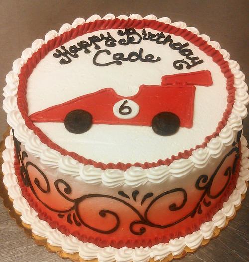 Boy Racecar II Cake
