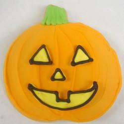Halloween Pumpkin Royal Iced Cookies