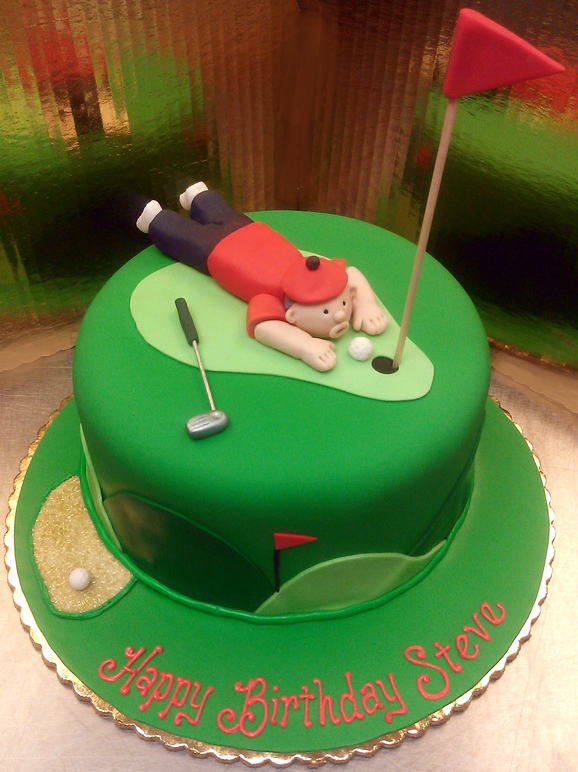 Adult Male Golf Cake