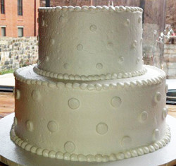 Monotone Silver Polk-a-Dot Wedding
