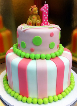 Girl First Birthday Cake