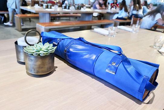 Blue Yoga Mat Holder