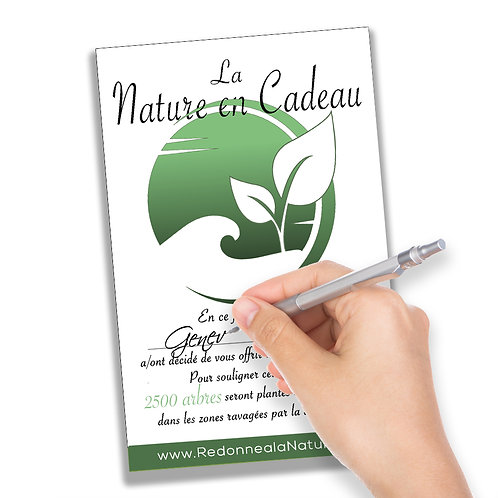 La Nature en Cadeau - 2500 Arbres Plantés