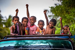 Indonesian Kids cheering