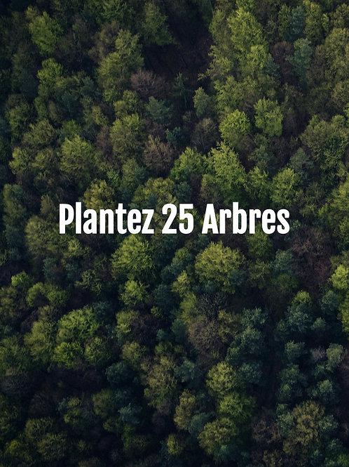 Plantez 25 Arbres