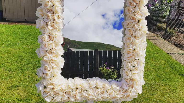 Floral Welcome Mirror