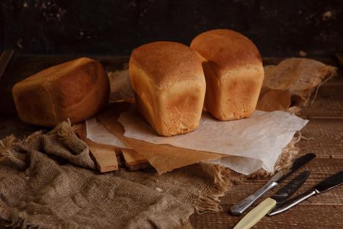 pão de forma recém desinformado