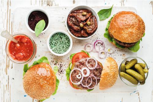 recheios de hambúrguer