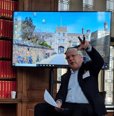 Professor Jamie Shae Speaking at Cambridge University.