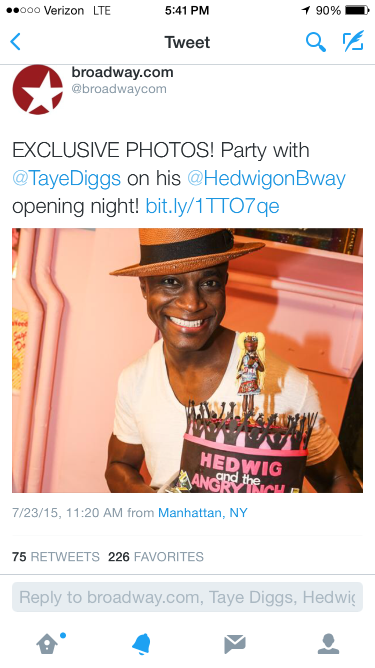 Taye Diggs as Hedwig Press