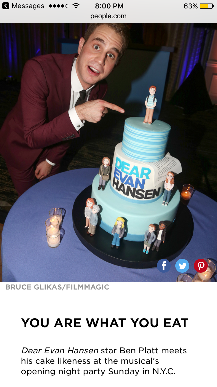 Ben Platt Opening Night Party Press