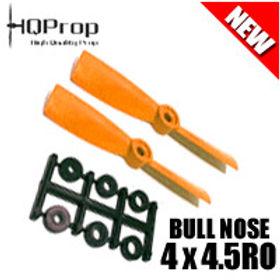 HQProp 4x4.5RO (Orange) [BULLNOSE]  Reverse