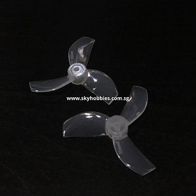 Gemfan 35mm 3-blade Propellers (1.0mm Shaft) (8pcs) - MILK WHITE