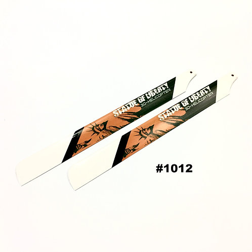 """325mm Fiber Glass Blades for 450-size Helicopters (#1012) """"Statue Liberty"""""""