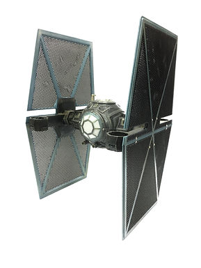 """""""Star Wars"""" IMPERIAL Tie-Fighter 3D Printed Basic Kit (Unpainted - WHITE)"""