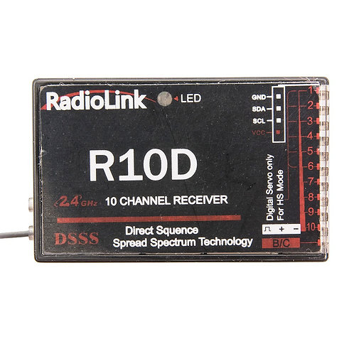 RadioLink R10D 2.4G 10channel receiver, DSSS and use for TX AT9 and AT10