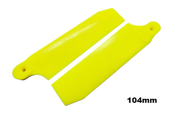 KBDD 104mm Neon Yellow Extreme Edition Tail Rotor Blades - 700 Size #4080