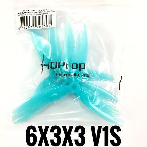 HQProp 6x3x3 V1S  (Poly Carbonate) LIGHT BLUE