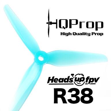 "HQProp ""HeadsUp"" Racing R38 Blue (2CW+2CCW)-Poly Carbonate"