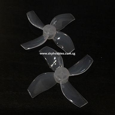 Gemfan 35mm 4-blade Propellers (1.0mm Shaft) (8pcs) - MILK WHITE