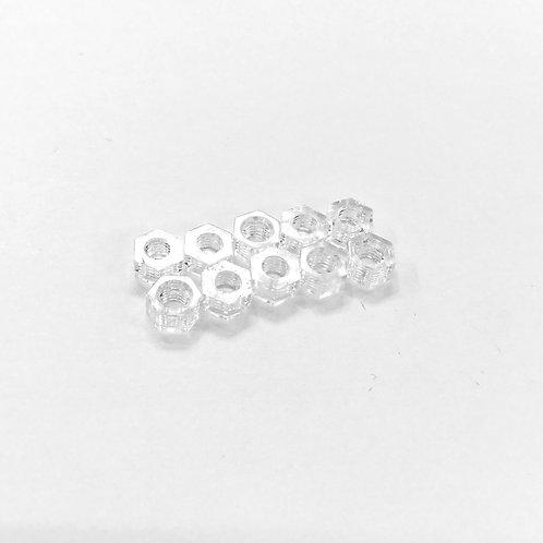 Light Weight PVC Nuts - CLEAR : M3 (10pcs)