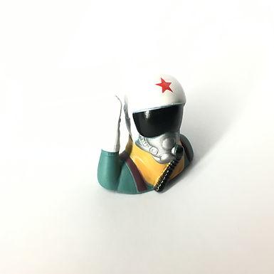 1/10 Jet Pilot Figure - White Helmet (Salute)