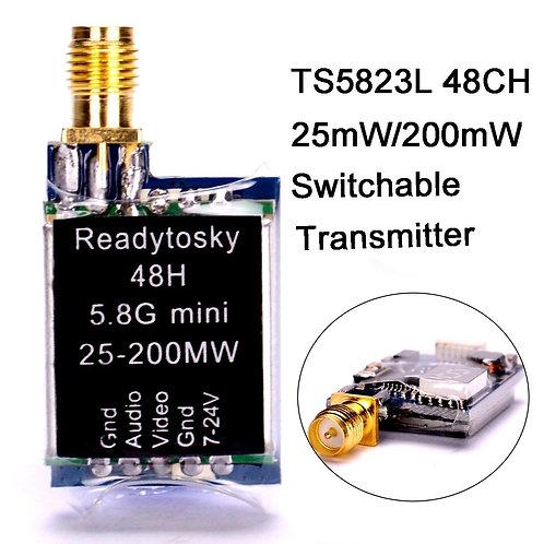 Ready-To-Sky TS5823L 48CH 5.8Ghz FPV VTX 25mW/200mW Switchable