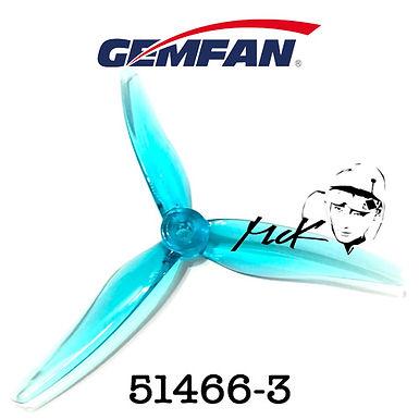 Gemfan Hurricane 51466-3 : CLEAR BLUE (MCK Edition)