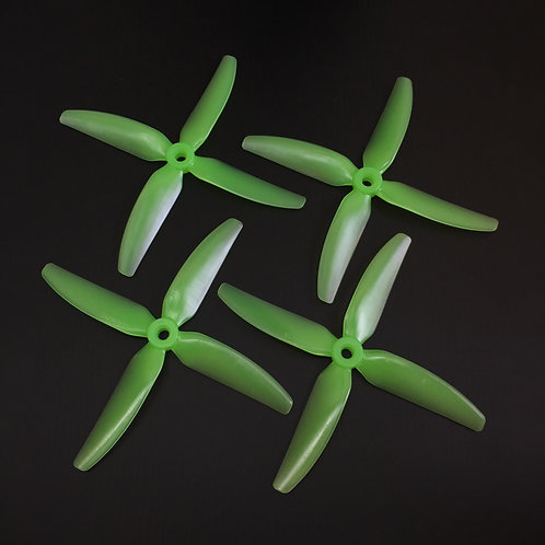 HQProp DP 5x4x4 V1S (Poly Carbonate)  LIGHT GREEN 2 Normal / 2 Reverse