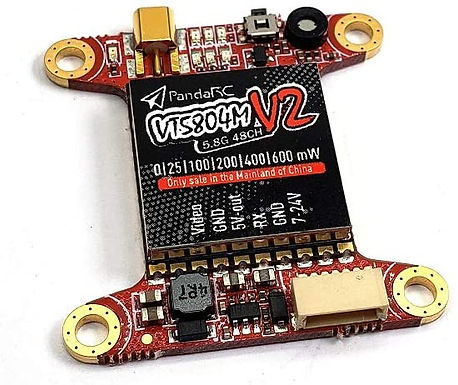 PandaRC VT5804M V2 30*30 5.8G Switchable FPV Transmitter with OSD 25~600mW