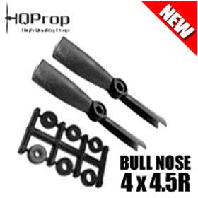 HQProp 4x4.5R (Black) [BULLNOSE]  Reverse