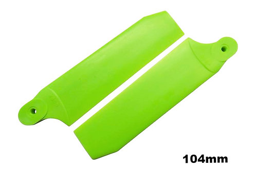 KBDD 104mm Neon Lime Green Extreme Edition Tail Rotor Blades - 700 Size #4076