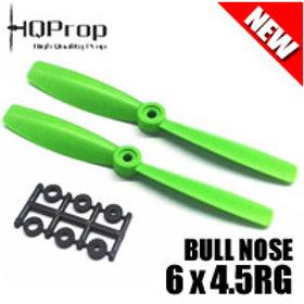HQProp 6x4.5RG (Green) [BULLNOSE]  Reverse
