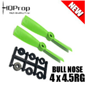 HQProp 4x4.5RG (Green) [BULLNOSE]  Reverse