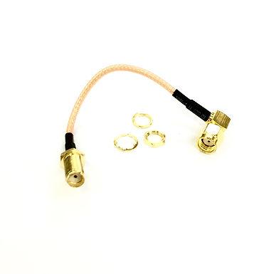 VTX Antenna Extension : 10cm (Converter For SMA-Plug VTX to RP-SMA Plug)
