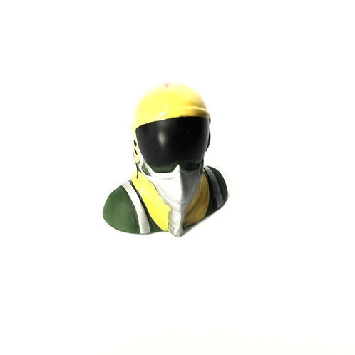 1/10 Jet Pilot Figure - Yellow Helmet (No Salute)