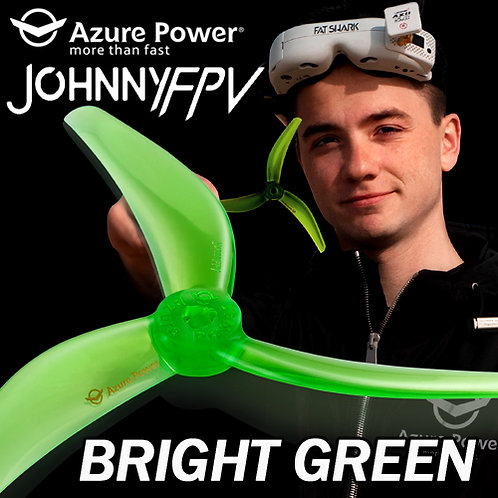 Azure Power Johnny Freestyle 4838 Propeller (Set of 4) : BRIGHT GREEN
