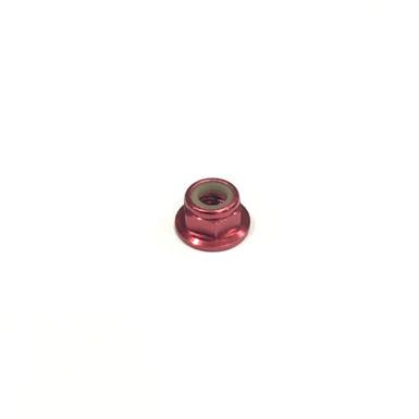 """M5 CW Aluminium """"Standard Profile"""" Lock Nut - Red (1 pc)"""