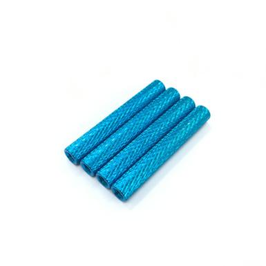"35mm Aluminum Spacer (Blue) OD5mm Straight ""Diamond"" (4pcs)"